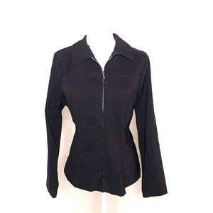 Harlow Black Ladies Jacket Large Lint Resistant